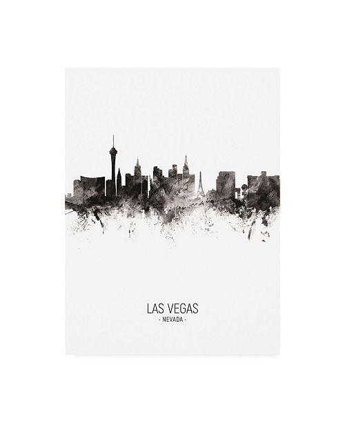 "Trademark Global Michael Tompsett Las Vegas Nevada Skyline Portrait II Canvas Art - 19.5"" x 26"""