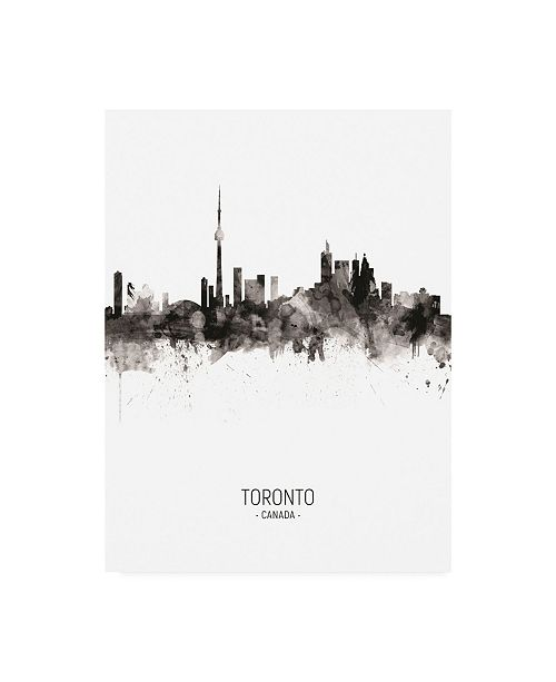 "Trademark Global Michael Tompsett Toronto Canada Skyline Portrait II Canvas Art - 36.5"" x 48"""