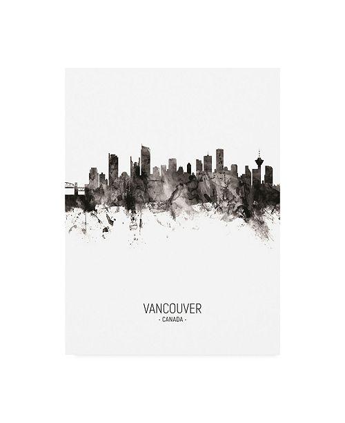 "Trademark Global Michael Tompsett Vancouver Canada Skyline Portrait II Canvas Art - 15.5"" x 21"""