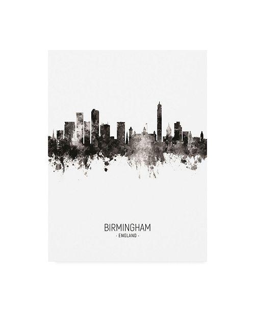"Trademark Global Michael Tompsett Birmingham England Skyline Portrait II Canvas Art - 27"" x 33.5"""