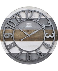 Shabby Planks Wall Clock