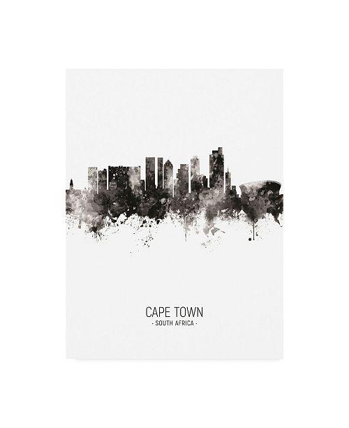 "Trademark Global Michael Tompsett Cape Town South Africa Skyline Portrait II Canvas Art - 36.5"" x 48"""