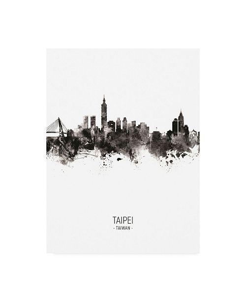 "Trademark Global Michael Tompsett Taipei Taiwan Skyline Portrait II Canvas Art - 36.5"" x 48"""