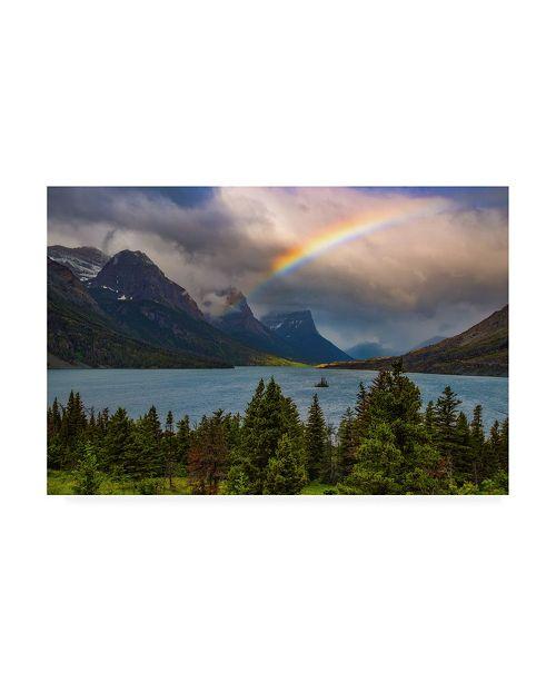 "Trademark Global Darren White Photography Glacier Rainbow Canvas Art - 15.5"" x 21"""