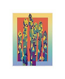 "David Chestnutt Asparagus Pastel Canvas Art - 15.5"" x 21"""