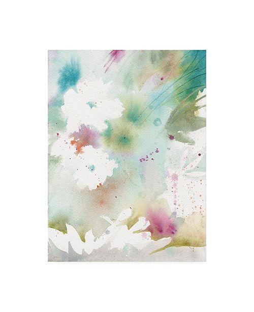 """Trademark Global Sheila Golden Blue Thought #2 Canvas Art - 27"""" x 33.5"""""""