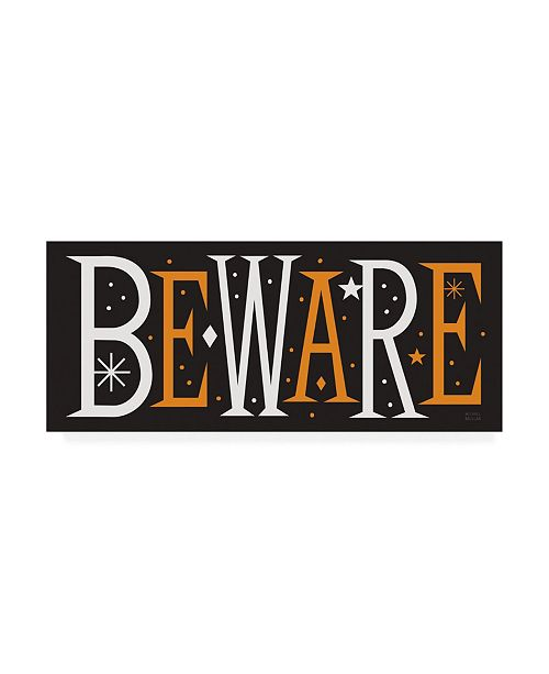 "Trademark Global Michael Mullan Festive Fright Beware Canvas Art - 36.5"" x 48"""