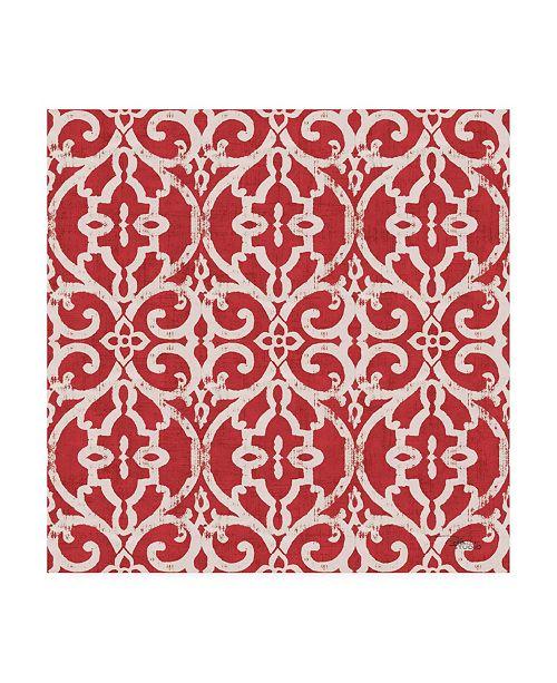"""Trademark Global Pela Studio Bazaar Patchwork Pattern IVA Canvas Art - 19.5"""" x 26"""""""