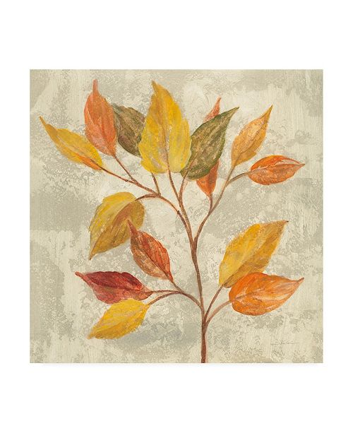 "Trademark Global Silvia Vassileva November Leaves II Canvas Art - 15.5"" x 21"""