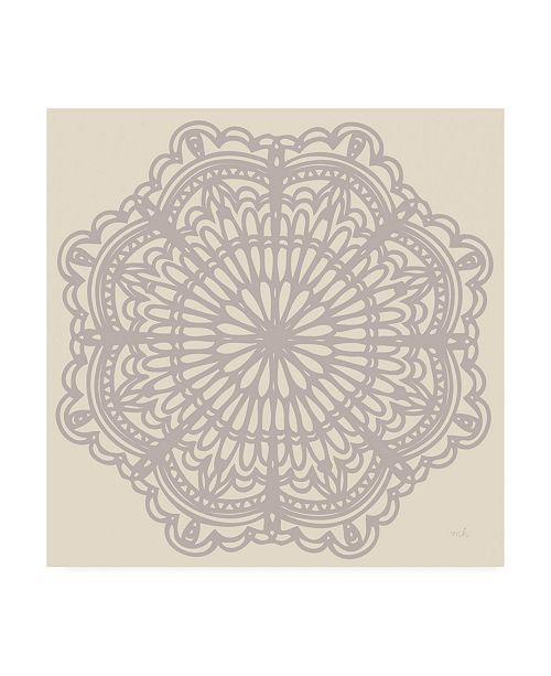 """Trademark Global Moira Hershey Contemporary Lace Neutral I Canvas Art - 15.5"""" x 21"""""""