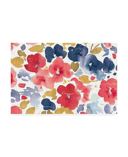 "Trademark Global Pela Studio Floral Flow I Canvas Art - 15.5"" x 21"""