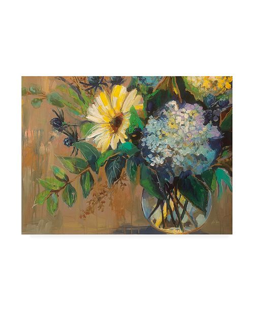 "Trademark Global Jeanette Vertentes Glass Floral Canvas Art - 15.5"" x 21"""