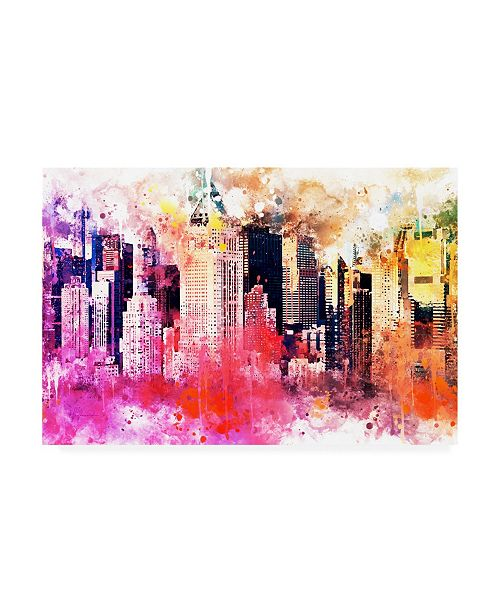 "Trademark Global Philippe Hugonnard NYC Watercolor Collection - City of Colors Canvas Art - 27"" x 33.5"""