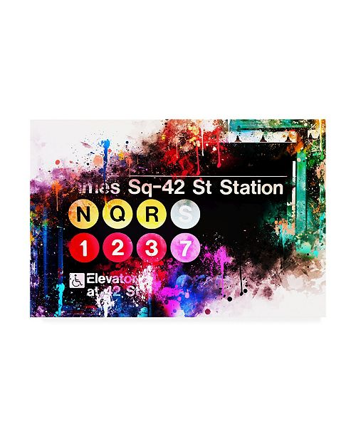 "Trademark Global Philippe Hugonnard NYC Watercolor Collection - Times Sq-42 St Station Canvas Art - 15.5"" x 21"""