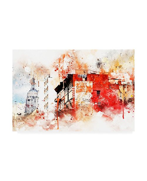 "Trademark Global Philippe Hugonnard NYC Watercolor Collection - Manhattan Architecture Canvas Art - 36.5"" x 48"""