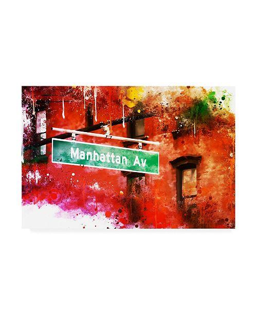 "Trademark Global Philippe Hugonnard NYC Watercolor Collection - Manhattan Avenue Canvas Art - 15.5"" x 21"""