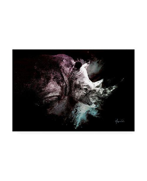 "Trademark Global Philippe Hugonnard Wild Explosion Collection - the Rhino Canvas Art - 36.5"" x 48"""