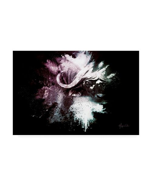 "Trademark Global Philippe Hugonnard Wild Explosion Collection - the Cape Buffalo Canvas Art - 27"" x 33.5"""