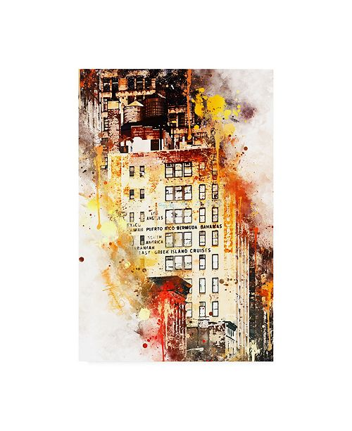 """Trademark Global Philippe Hugonnard NYC Watercolor Collection - US Building Canvas Art - 15.5"""" x 21"""""""