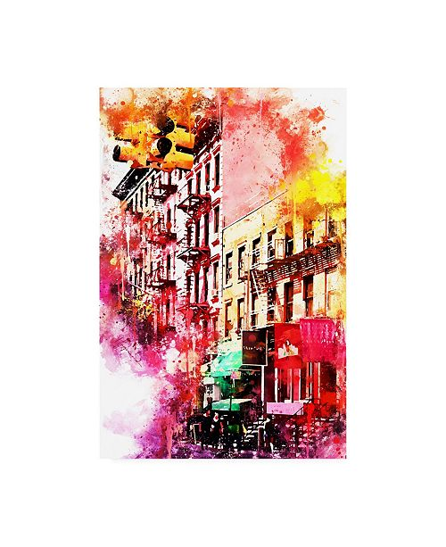 "Trademark Global Philippe Hugonnard NYC Watercolor Collection - Colorful Buildings Canvas Art - 15.5"" x 21"""