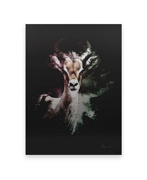 """Trademark Global Philippe Hugonnard Wild Explosion Collection - the Antelope Floating Brushed Aluminum Art - 21"""" x 25"""""""