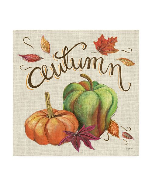 "Trademark Global Mary Urban Autumn Harvest I Linen Canvas Art - 36.5"" x 48"""