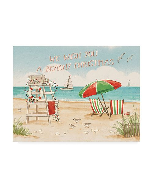 "Trademark Global Janelle Penner Beach Time I Christmas Canvas Art - 27"" x 33.5"""