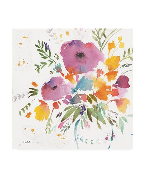 "Trademark Global Sheila Golden A Bright Bouquet Canvas Art - 15.5"" x 21"""