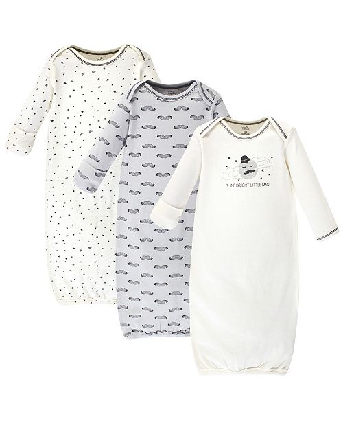 Touched By Nature Organic Cotton Gown 3 Pack Mr Moon