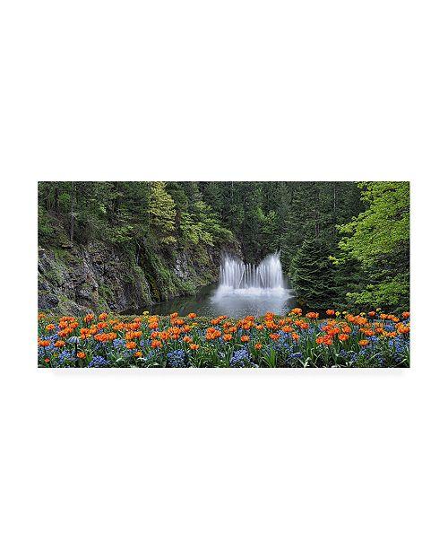 "Trademark Global Chuck Burdic Water Music Flowers Canvas Art - 27"" x 33.5"""