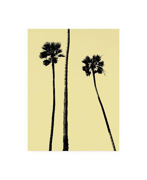 "Trademark Global Erik Asl Palm Trees 2000 (Yellow) Canvas Art - 36.5"" x 48"""