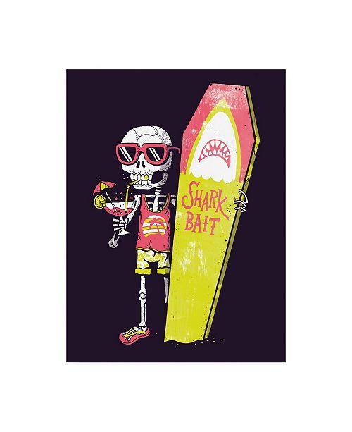 "Trademark Global Michael Buxto Shark Bait Canvas Art - 15.5"" x 21"""