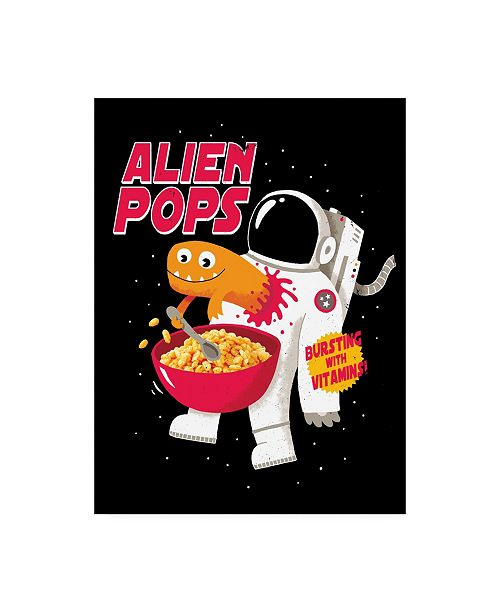 "Trademark Global Michael Buxto Alien Pops Canvas Art - 27"" x 33.5"""