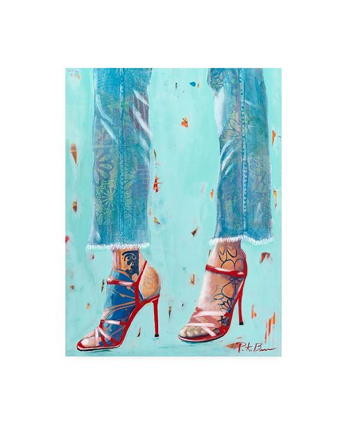"Trademark Global Pamela K. Bee Red Heels Canvas Art - 15.5"" x 21"""