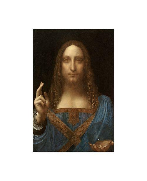 "Trademark Global Leonardo Da Vinc Salvator Mundi Canvas Art - 27"" x 33.5"""