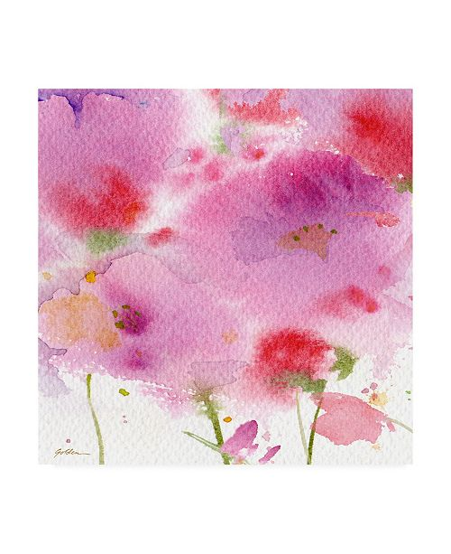 "Trademark Global Sheila Golde Serenade Pink and Purple Canvas Art - 15.5"" x 21"""