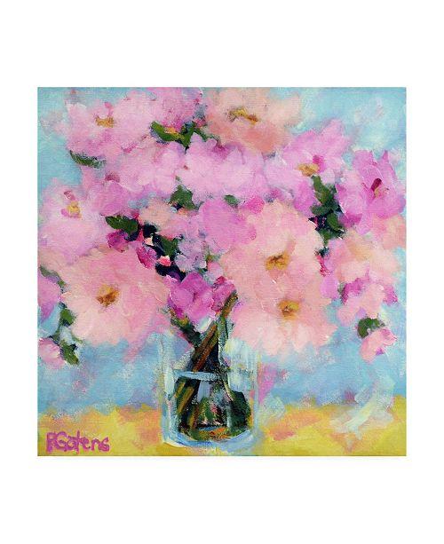 "Trademark Global Pamela Gaten Bright Pink Peony Canvas Art - 36.5"" x 48"""