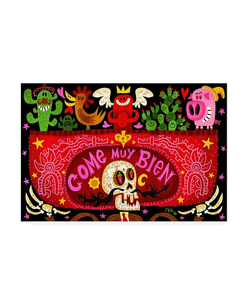 "Trademark Global Jorge R. Gutierre Come Muy Bien Canvas Art - 15.5"" x 21"""