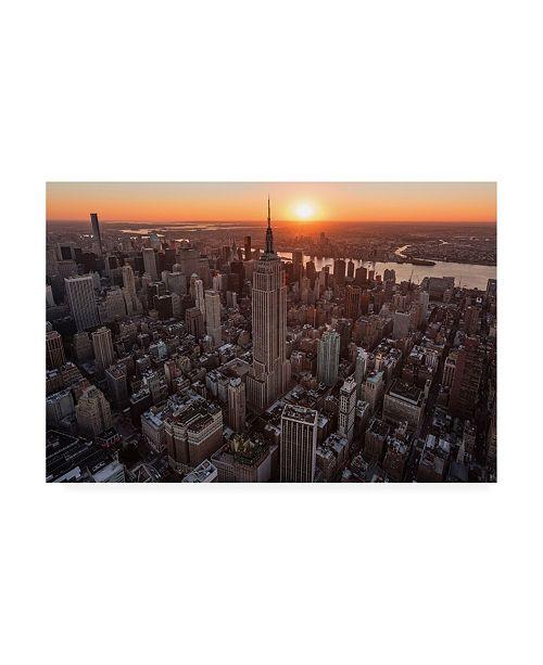 "Trademark Global Bruce Gett Empire Flight Sun Burst Canvas Art - 36.5"" x 48"""