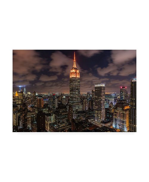 "Trademark Global Bruce Gett Orange 9-11 Canvas Art - 27"" x 33.5"""