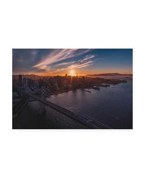 "Trademark Global Bruce Gett Sunset Explosion Canvas Art - 15.5"" x 21"""
