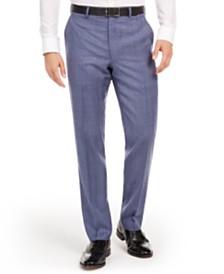 Lauren Ralph Lauren Men's Classic-Fit UltraFlex Stretch Light Blue Check Suit Separate Pants