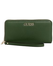 GUESS Alby Signature Zip Around Wallet