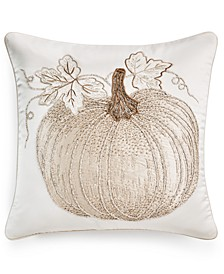 "Pumpkin 18"" x 18"" Decorative Pillow, Created for Macy's"