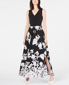 I.N.C. V-Neck Maxi Dress, Created for Macy's
