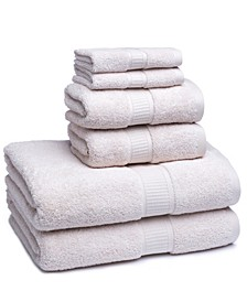 Turkish Cotton Solid 6-Pc. Towel Set