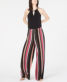 INC Multi-Stripe Jumpsuit, Created for Macy's