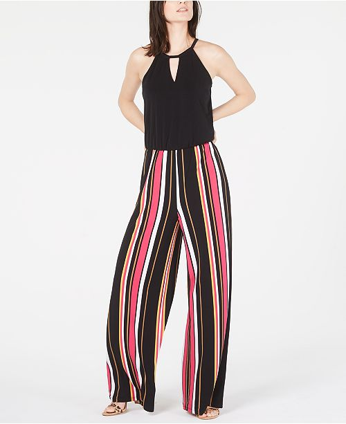 INC International Concepts INC Multi-Stripe Jumpsuit, Created for Macy's