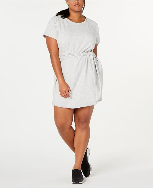 Ideology Plus Size Tie-Front T-Shirt Dress, Created for Macy's