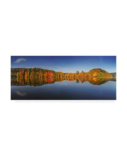 "Trademark Global Burger Jochen Autumn Forest Lining Water Canvas Art - 37"" x 49"""